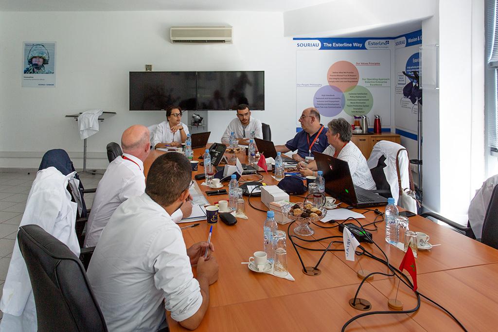 FC Lane Electronics meeting at Souriau Tangier Factory