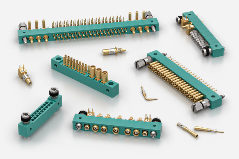 MIL-DTL-55302 PCB 2.53 Pitch Connectors for Aerospace