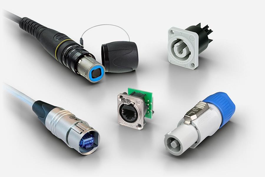 Neutrik opticalCON, etherCON, powerCON, RJ45, fibre and Ethernet connectors for medical applications