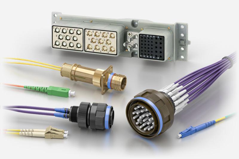 Souriau Elio Arinc Fibre Optic Connectors Cable Assemblies