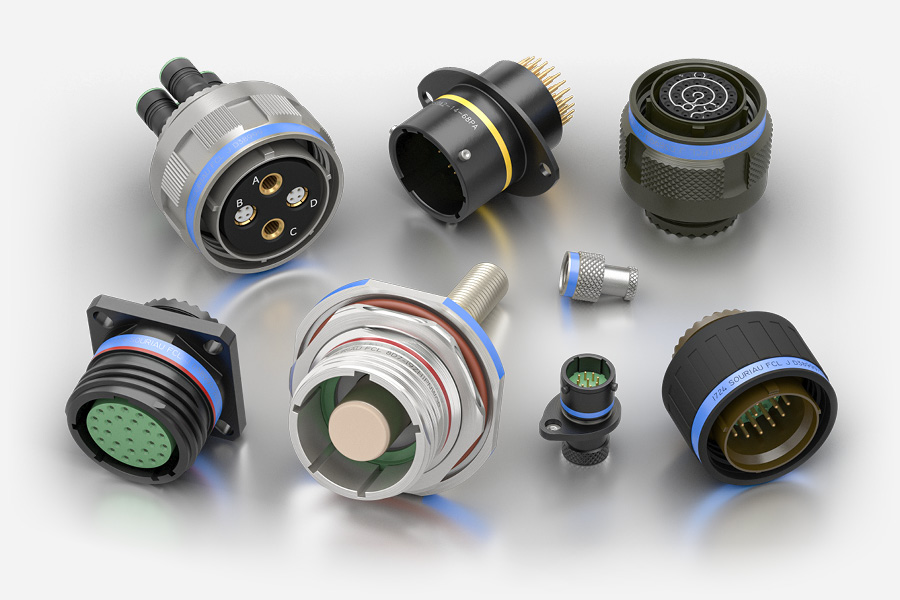 Souriau Circular D38999 and 8STA Electrical Connectors for Aerospace Industry