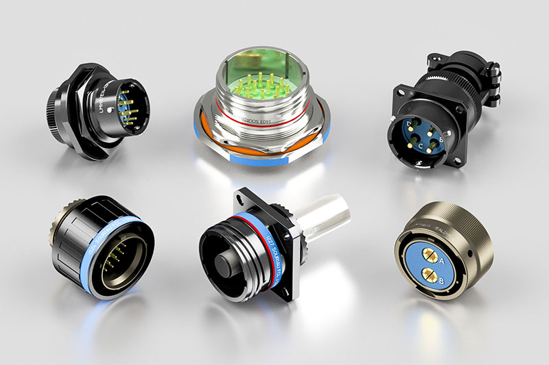 Souriau MIL-DTL-38999 and Weald Electronics MIL-DTL-26482 Connectors