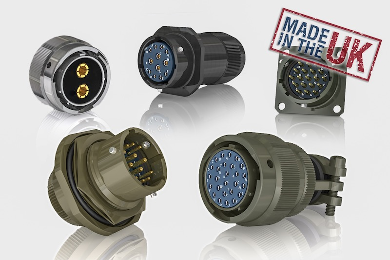 MIL-C-26482 circular connectors made in the UK