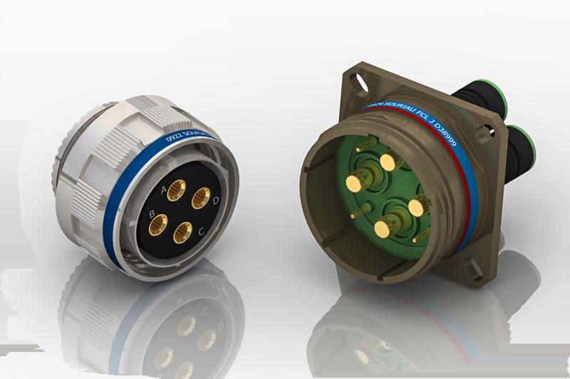 MIL-DTL-38999 Series III Power connectors