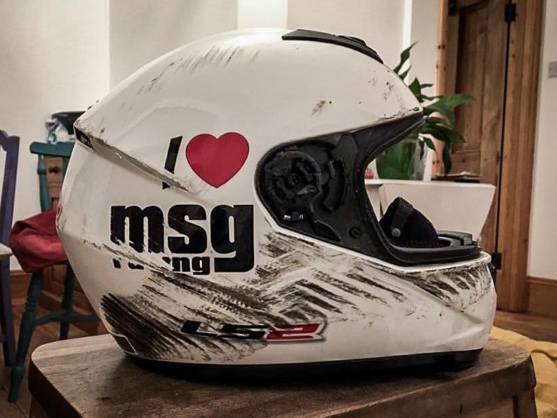 Sam Osborne's Helmet