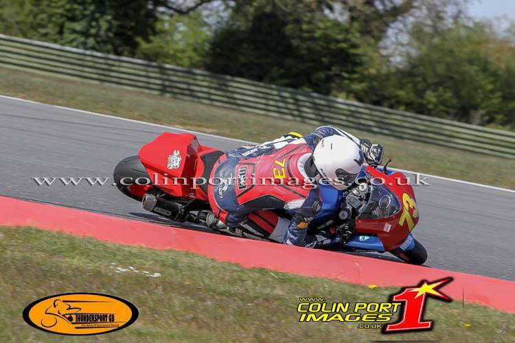 Sam Osborne Lane Motorsport Rider at Snetterton Circuit crash