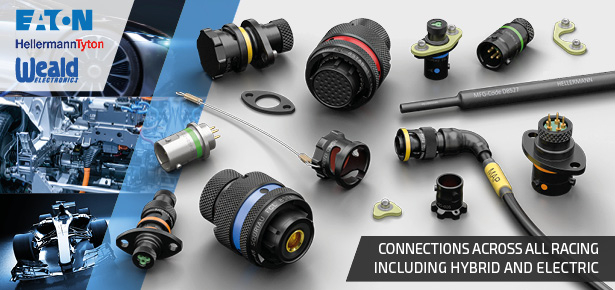 Eaton Souriau 8STA motorsport / autosport connectors for hybrid and electric racing vehicles EV