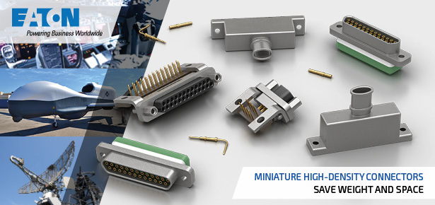 Eaton Souriau microComp rectangular 2mm pitch high density electrical connectors