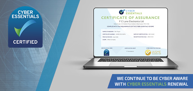 Cyber Essentials Certificate for FC Lane Electronics