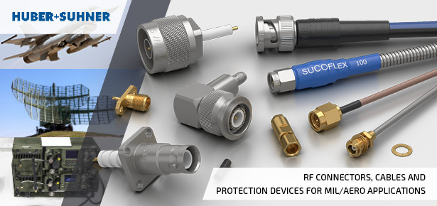 Huber Suhner RF Cables and Connectors for Military Aerospace Applications