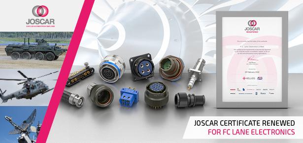 Joscar certificate renewed for FC Lane Electronics connector distributor