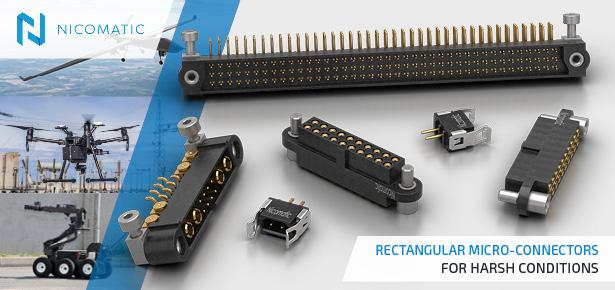 Nicomatic CMM Micro-Rectangular Connectors from FC Lane Electronics