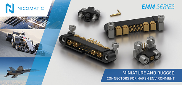 Nicomatic EMM Series Connectors for Harsh Environment
