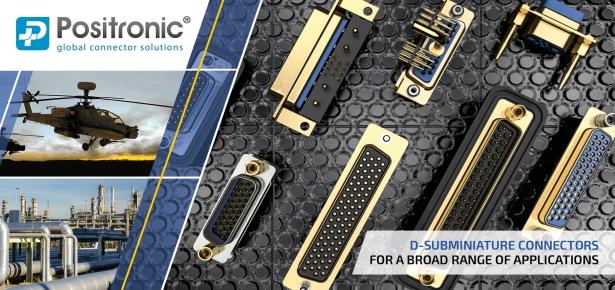 Positronic D-Sub connectors for broad applications