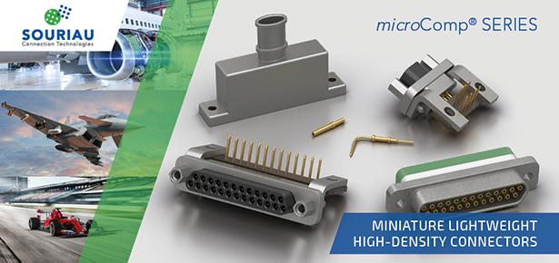 Souriau microComp high density rectangular connectors