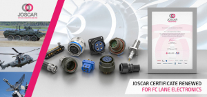 Joscar certificate renewed for FC Lane Electronics connector distributor