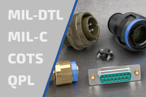 MIL-DTL-38999 / 26482 / 5015 military specification connectors banner