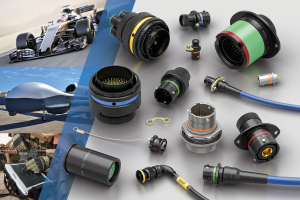 Souriau 8STA electrical connectors for motorsport, autosport, UAV and communication