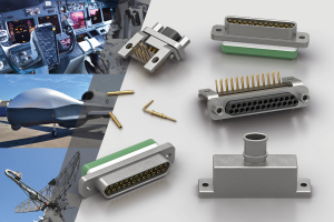 Souriau microCOMP high density rectangular connectors 2mm pitch crimp connectors