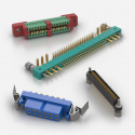 Multi-pin rectangular electrical connectors M200, M300, EdgeCard from Weald Electronics