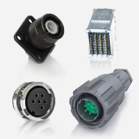 Circular and rectalgular connectors from Nicomatic, Plessey, Transradio, Icore and Binder