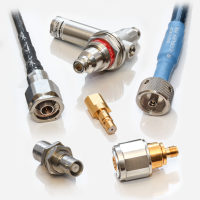 RF connectors and accessories from Huber+Suhner and Radiall.