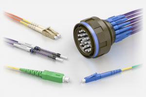 Souriau ELIO Pigtails / Patchcords to SC, LC, FC, ST Fibre Optic Connectors